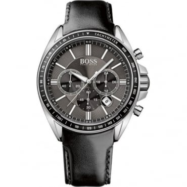 Mens Leather Strapped Chronograph Watch 1513085