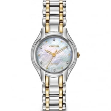 Citizen Ladies Diamond Eco-Drive Watch EM0284-51D