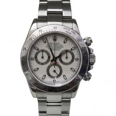Pre-Owned Rolex Mens Stainless Steel Cosmograph Daytona 116520