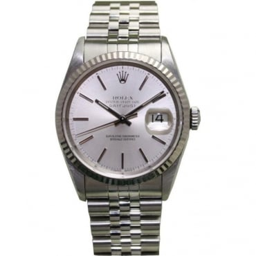 Pre-Owned Rolex Mens Stainless Steel Datejust with Jubilee Bracelet 16234