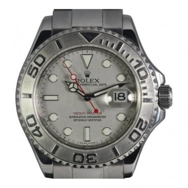 Pre-Owned Rolex Mens Steel Yacthmaster