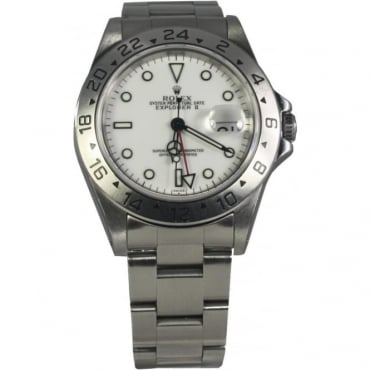 Pre-Owned Rolex Mens Stainless Steel Explorer II Watch 16570