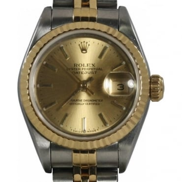 Pre-Owned Rolex Ladies Bi Colour Datejust