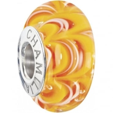 Chamilia Sound Waves Murano Tequila Sunrise Bead 2110-1192