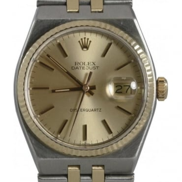 Pre-Owned Rolex Mens Oyster Quartz Bi Metal