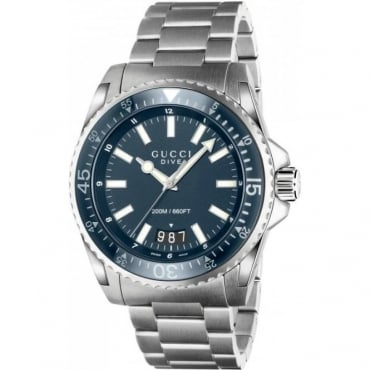 Mens Dive Blue Dial Bracelet Watch YA136203