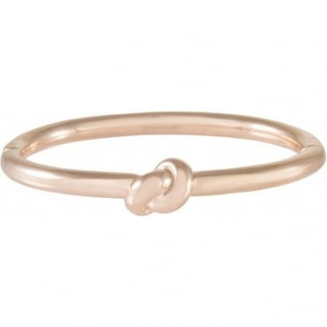 Bronzallure 18ct Rose Gold Plated Knot Bracelet