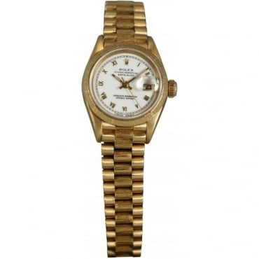 Pre-Owned Rolex Ladies Datejust 18ct Yellow Gold