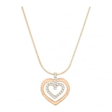Swarovski Ladies Circle Heart Pendant 5127999