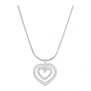 Swarovski Ladies Circle Heart Pendant 5113776