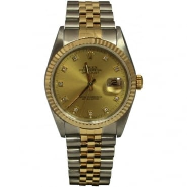 Pre-Owned Rolex Men's Bi Metal Datejust