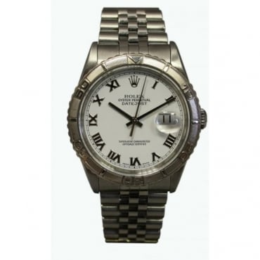 Pre-Owned Rolex Men's Stainless Steel Turnograph Datejust