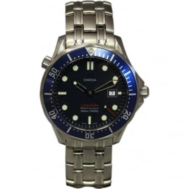 Pre-Owned Omega Mens Quartz Seamaster Watch