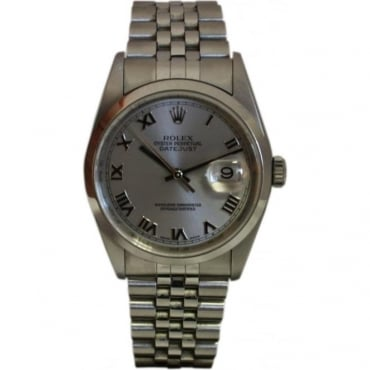 Pre-Owned Rolex Men's Stainless Steel DateJust Watch.
