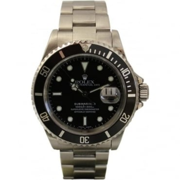 Pre-Owned Rolex Men's Stainless Steel Submariner Date