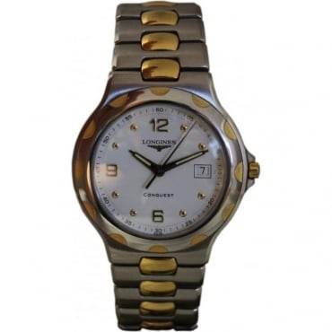 Pre-Owned Longines Mens's Bi-metal Conquest Watch