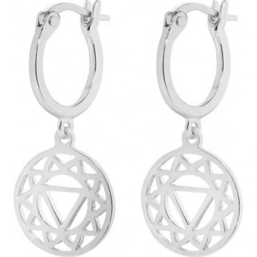 Silver Plexus Chakra Drop Earrings - ECHK1003