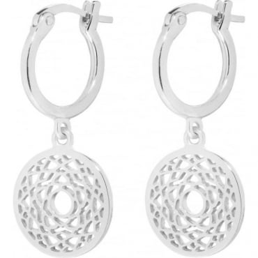 Silver Crown Chakra Drop Earrings - ECHK1007