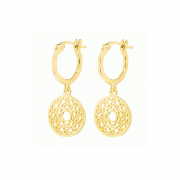 Gold Crown Chakra Drop earrings - ECHK2007