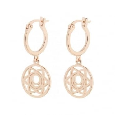 Rose Gold Sacral Chakra Drop Earrings - ECHK3002