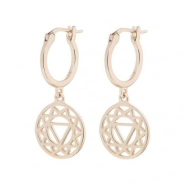 Rose Gold Solar Plexus Chakra Drop earrings - ECHK3003
