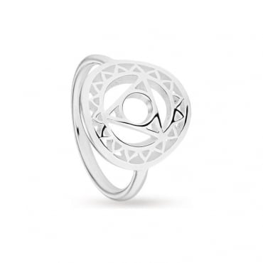 Throat Chakra Silver Ring