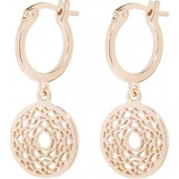 Rose Gold Crown Chakra Drop Earrings - ECHK3007