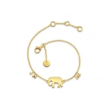 Gold Elephant Good Karma Chain Bracelet
