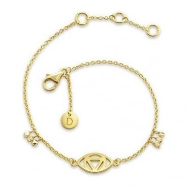 Gold Plated Good Karma Evil Eye Bracelet