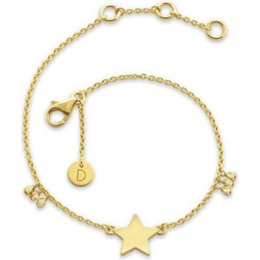 Large Star Good Karma Chain Bracelet