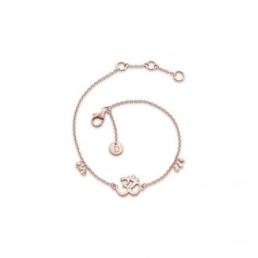 Om Good Karma Rose Gold Chain Bracelet