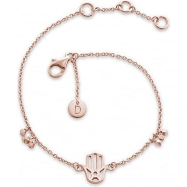 Hand of Fatima Good Karma Rose Gold Bracelet