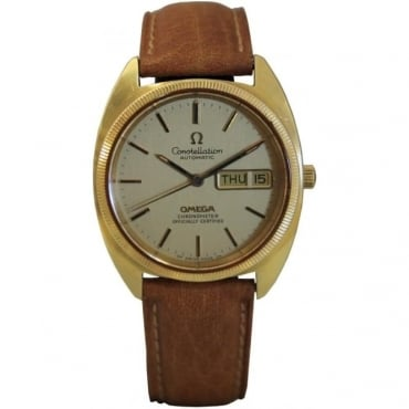 Pre-Owned Omega Men's Vintage 18ct Gold Constellation