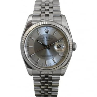 Pre-Owned Rolex Mens Stainless Steel Datejust Watch