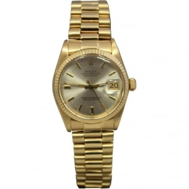 Pre-Owned Rolex Midsize 18ct Gold Datejust. 6827