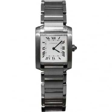 Ladies Stainless Steel Tank Francaise Watch