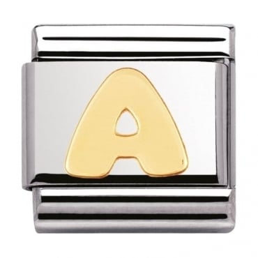 Classic Gold Letter A Charm - 03010101