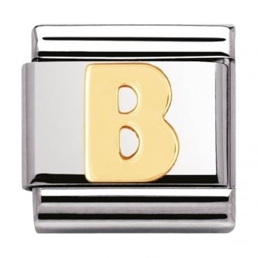 Classic Gold Letter B Charm - 03010102