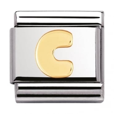 Classic Gold Letter C Charm - 03010103