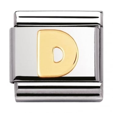 Classic Gold Letter D Charm - 03010104