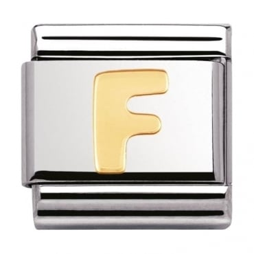 Classic Gold Letter F Charm - 03010106