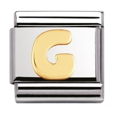 Classic Gold Letter G Charm - 03010107