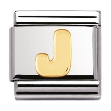 Classic Gold Letter J Charm - 03010110