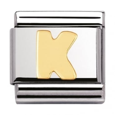 Classic Gold Letter K Charm - 03010111