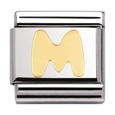 Classic Gold Letter M Charm - 03010113