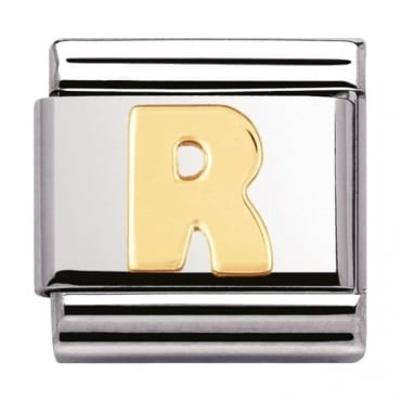 Classic Gold Letter R Charm - 03010118