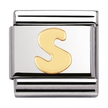Nomination Classic Gold Letter S Charm - 03010119