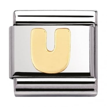 Nomination Classic Gold Letter U Charm - 03010121