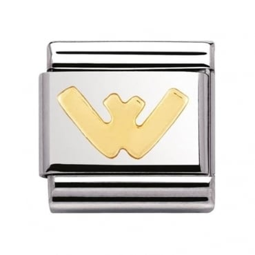 Nomination Classic Gold Letter W Charm - 03010123
