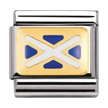 Classic Gold And Enamel Scotland Flag Charm